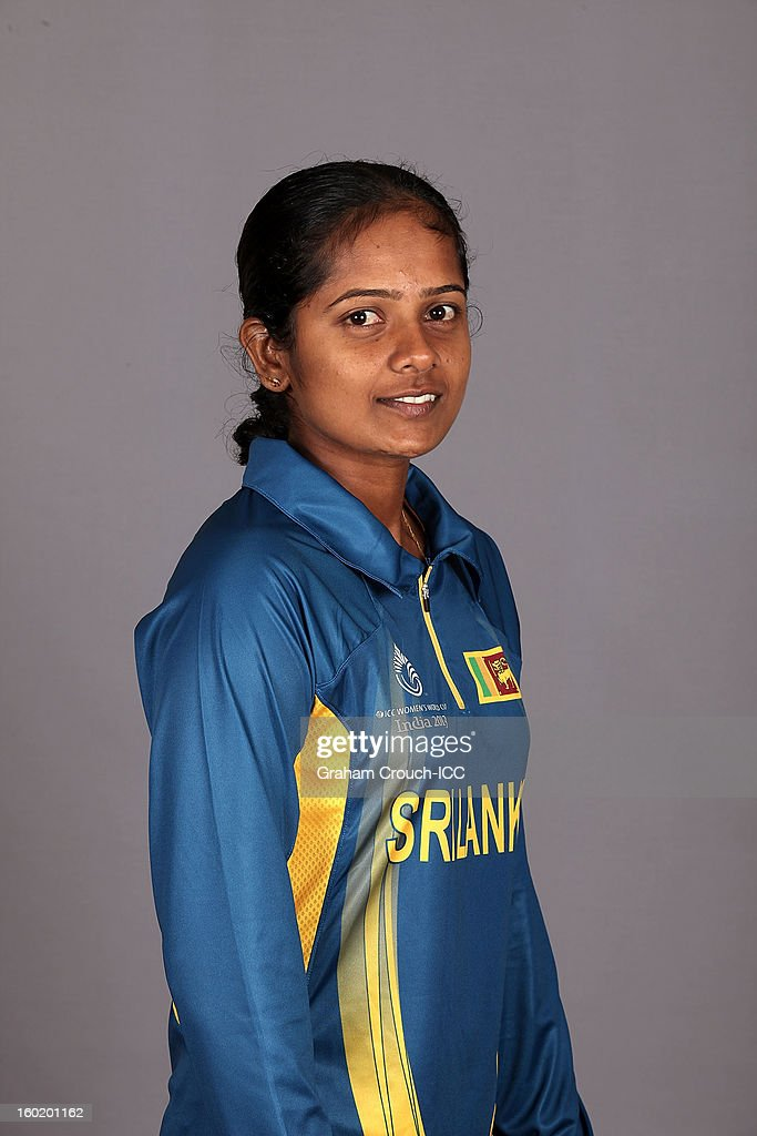 Inoka Ranaweera of Sri Lanka poses at a portrait session ahead of the ICC Womens World Cup 2013 at the Taj Mahal Palace Hotel on January 27, 2013 in Mumbai,India.