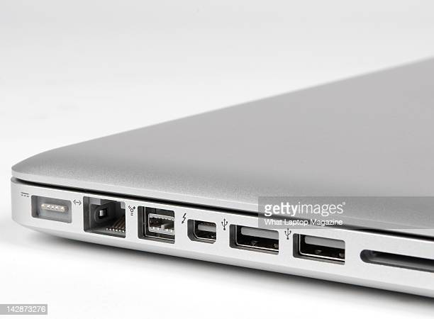 Input ports on an Apple MacBook Pro 13inch laptop Bath May 25 2011