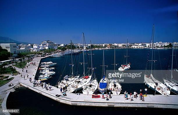 Blick über den Yachthafen vonKos Dezember 1997colansicht hafen