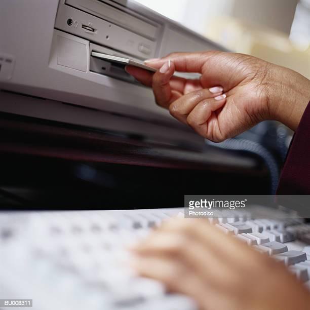 Inserting Floppy Disk in Disk Drive