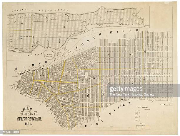 Manhattan north of 57th Street 'for DT Valentine's Manual ' 1854 Engraving ink on paper by George Hayward