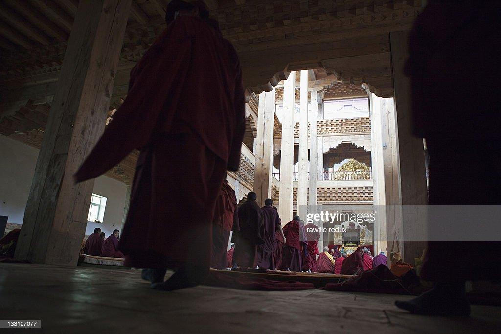 I inside a Buddhist monastery : Stock Photo