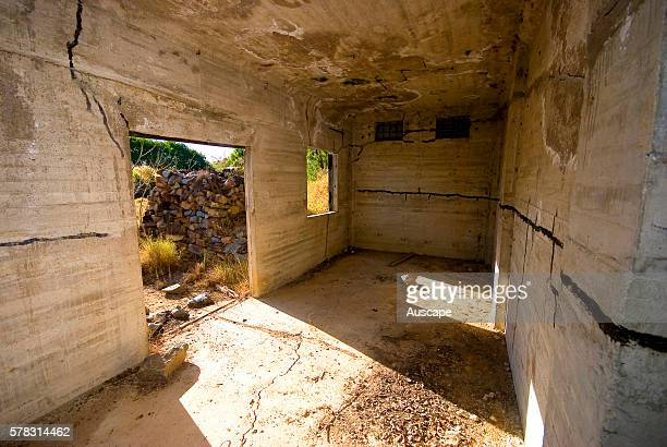 Inside a bunker constructed in the Second World War to store munitions In all 42 bunkers were made on Towers Hill Charters Towers Queensland Australia
