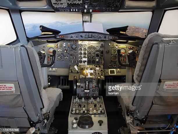 Dans un simulateur de vol