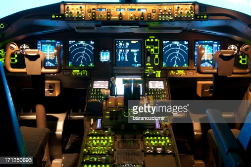 In einem Flugsimulator