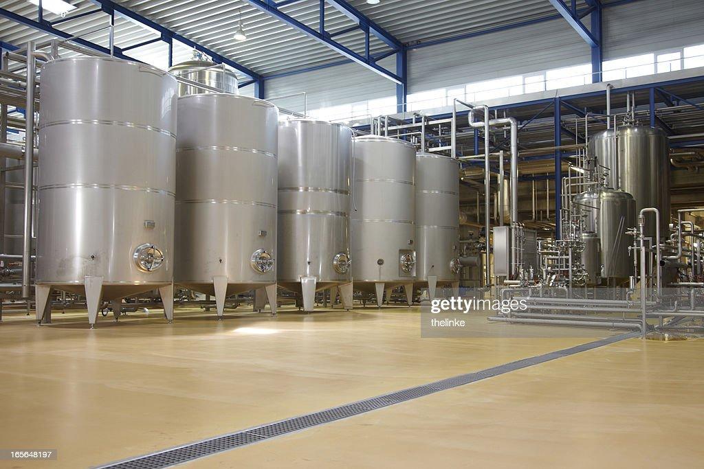 Inside a german brewery