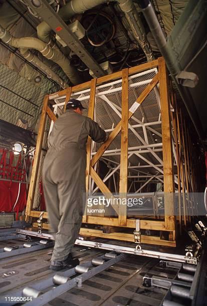 Inside a Hercules airplane
