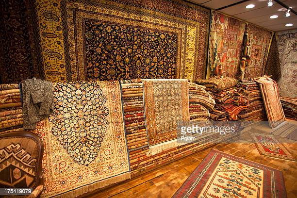 Inside a rug store