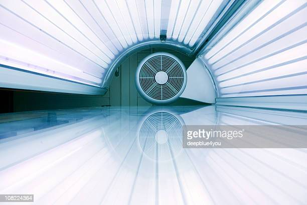Inside active tanning bed