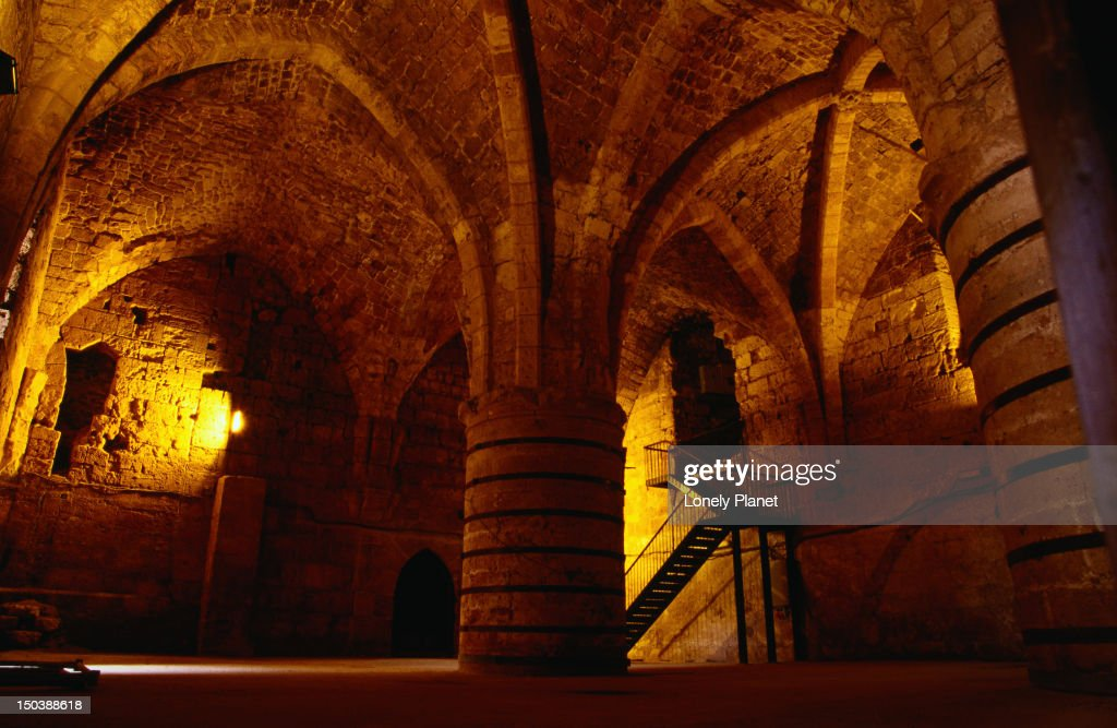 Inside Akko citadel, which was built by the Turks in the 18th century, home to the Museum of Underground Prisoners - Akko