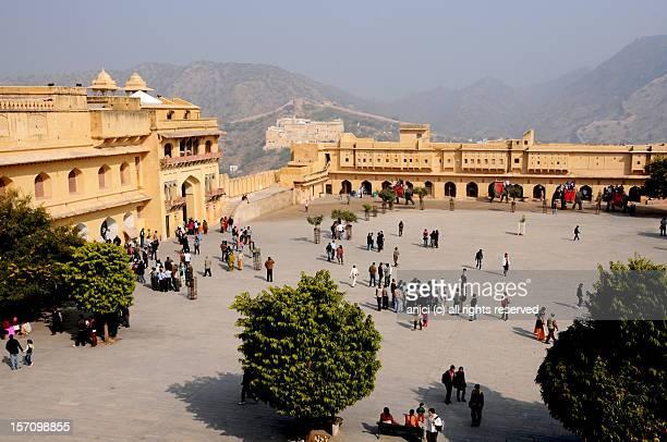 Inside Amber Fort near Jaipur, India