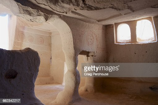 Inside Ancient Church Zelve Openair Museum Stock Photo  Getty Images