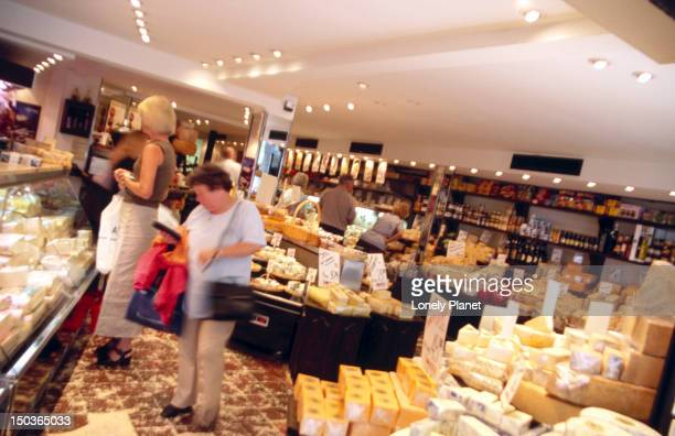Inside Czar, cheese shop on Kobmagergade 32.