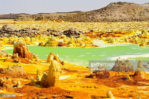 Inside Dallol volcano crater at Danakil Depression Ethiopia