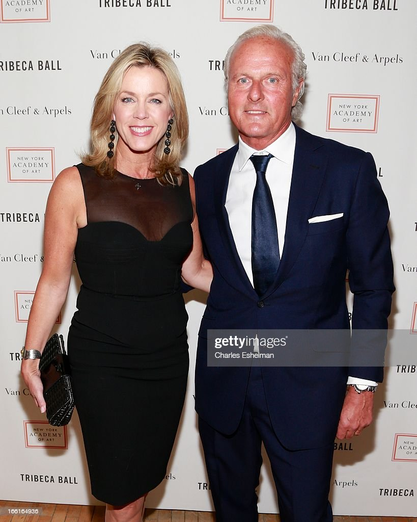 Inside Edition anchor Deborah Norvill and husband Karl Wellner attend 2013 Tribeca Ball at New York Academy of Art on April 8, 2013 in New York City.