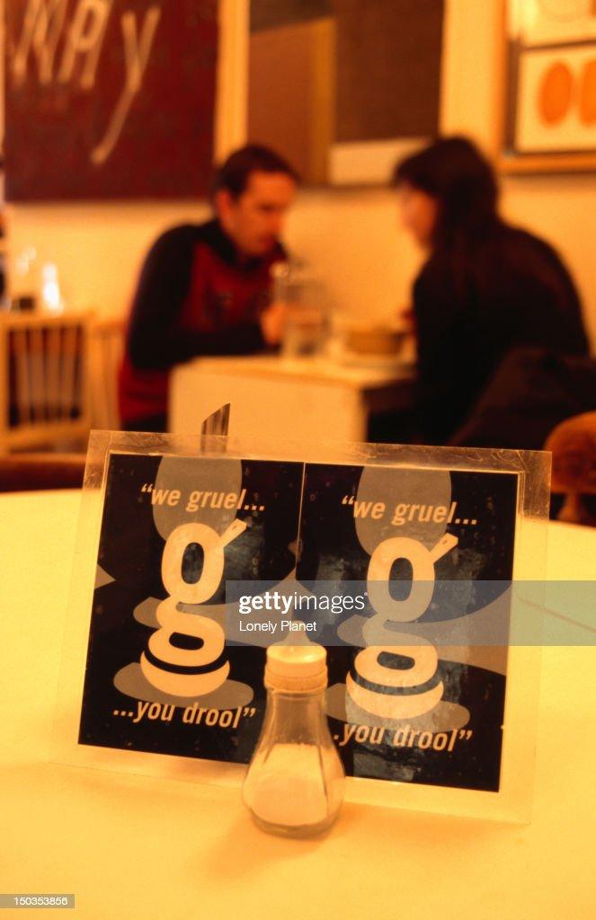 Inside Gruel restaurant. : Stock Photo