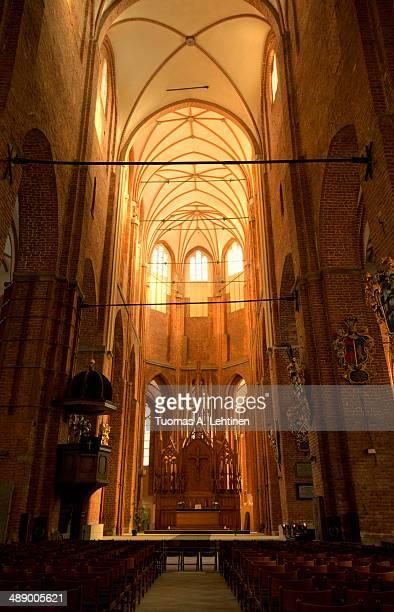 Inside in unoccupied St. Peter's Church in Riga