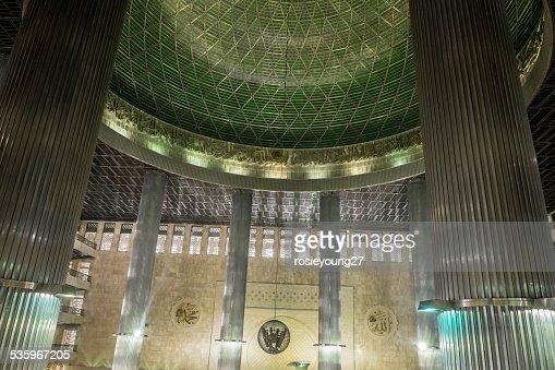 Inside Jakarta mosque : Stock Photo