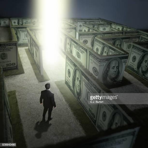 Inside money maze