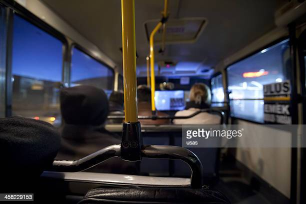 Inside of a Ankara Bus with four pessenger