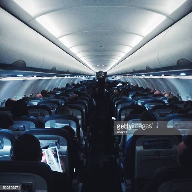 Inside of a Germanwings airliner
