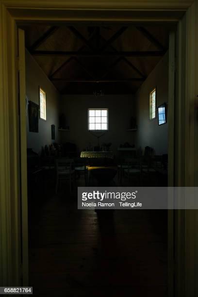 Inside of a small church in a farm in Victoria, Australia