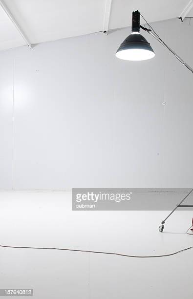 Inside of a studio with beauty dish