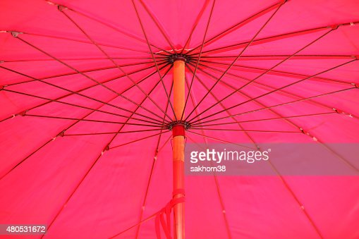 inside of pink umbrella : Stockfoto