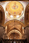 Inside of the Church of the Holy Sepulchre, Jerusalem, Israel