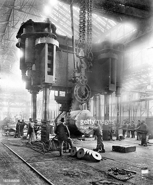 Inside of the Krupp factories Essen circa 1898