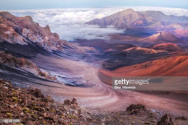 Innenseite der Vulkan-Krater