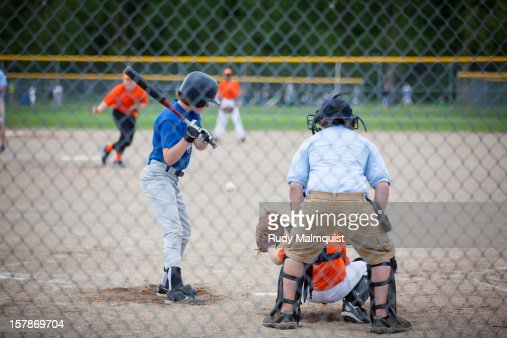 Inside Pitch, Strike Called : Stock Photo