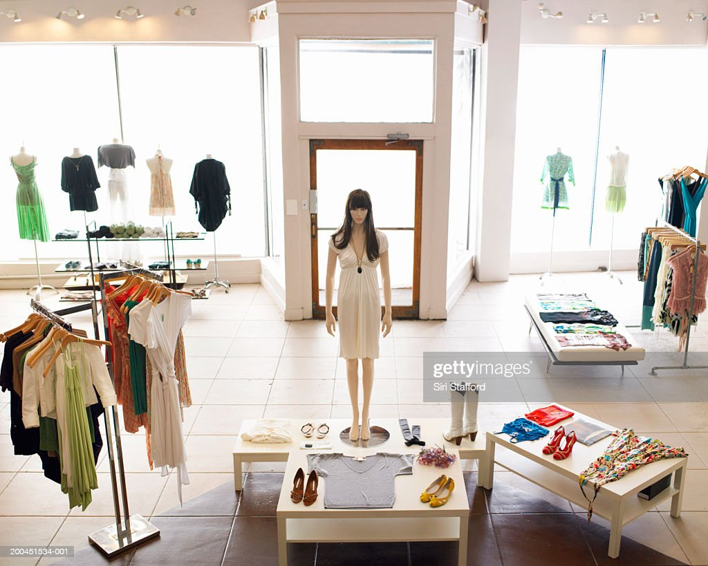 Inside retail boutique : Stock Photo