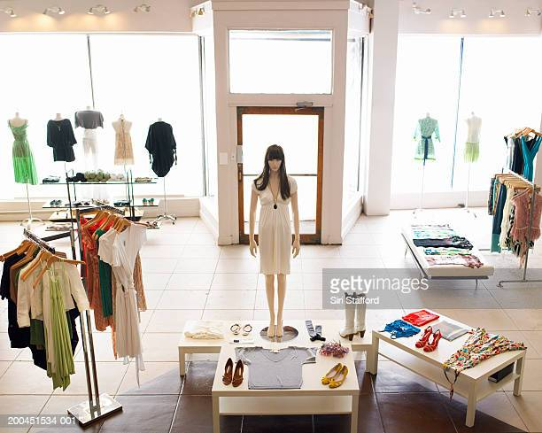 Inside retail boutique