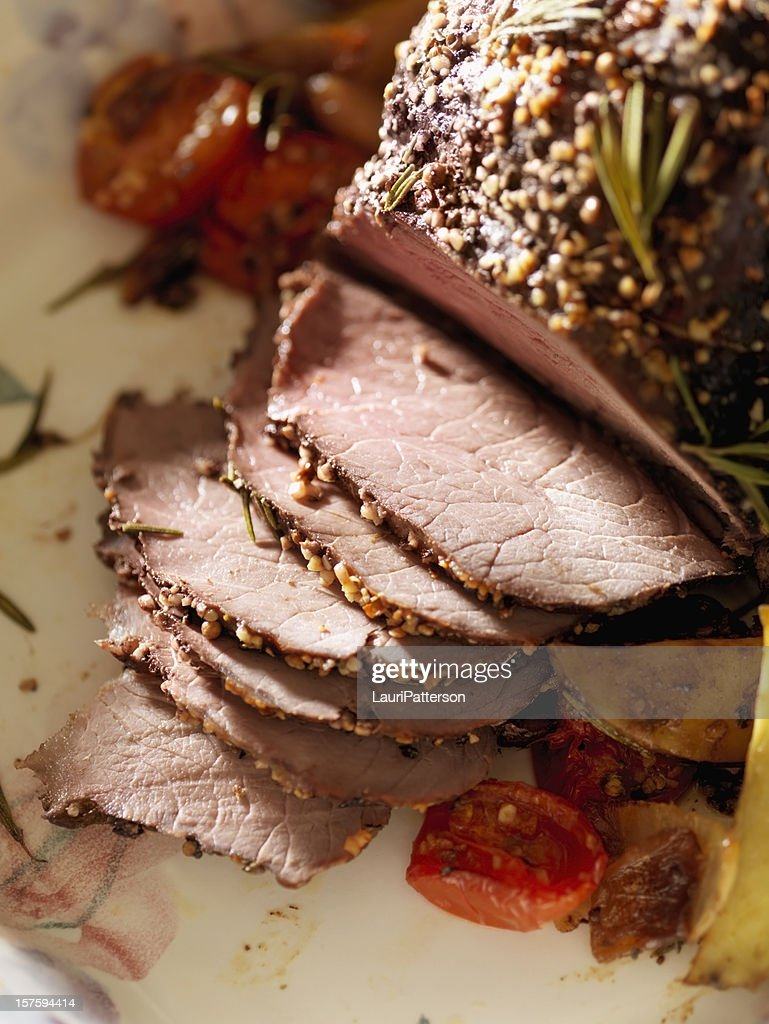 Inside Round Beef Roast : Stock Photo
