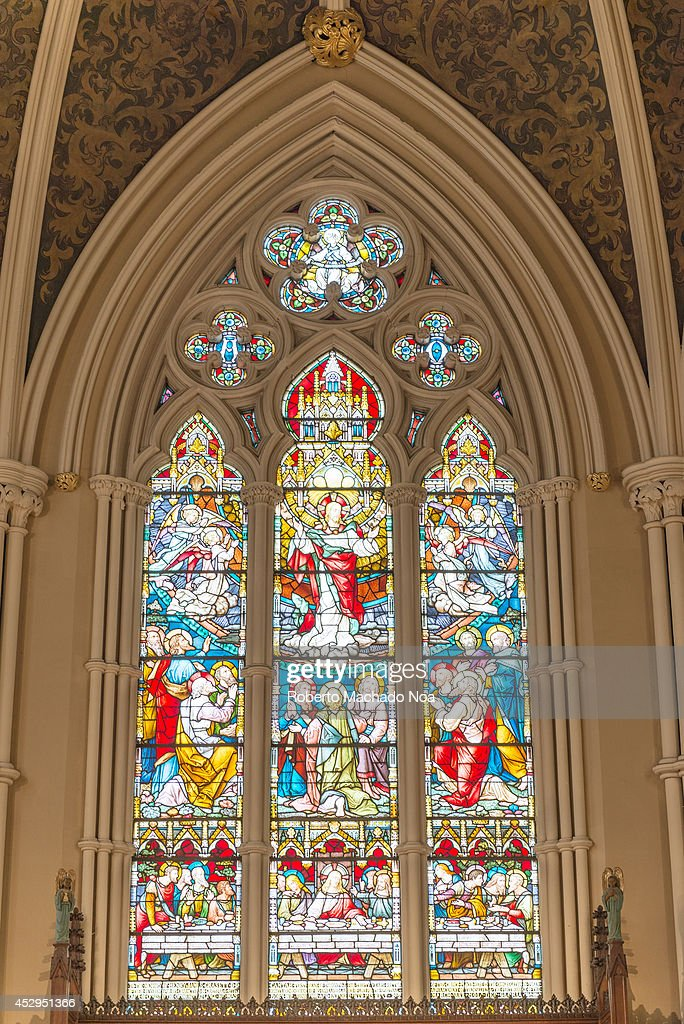Inside St. James Cathedral in Toronto. This church is the home of the oldest congregation in the city and It is a prime example of Gothic Revival architecture. The parish was established in 1797.