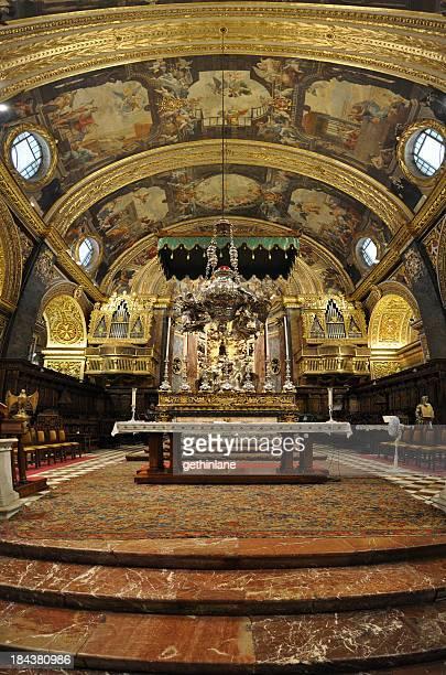 Inside St. John's Co-cathedral in Malta