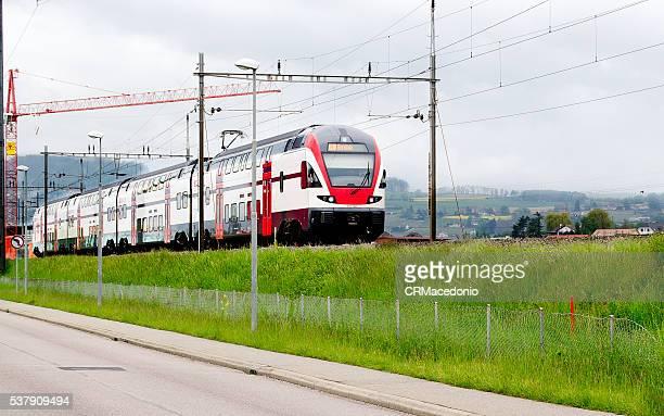 Inside Switzerland by train.