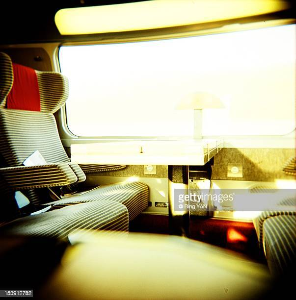 Inside TGV train
