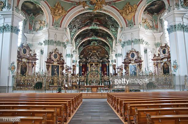 Inside the Cathedral from abbey of St. Gallen