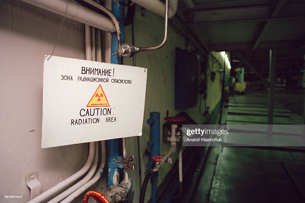 Inside the Chernobyl nuclear power plant's reactor n° 3