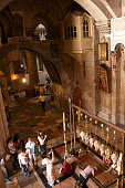 Inside the Church of the Holy Sepulchre, Old City, Jerusalem, Israel