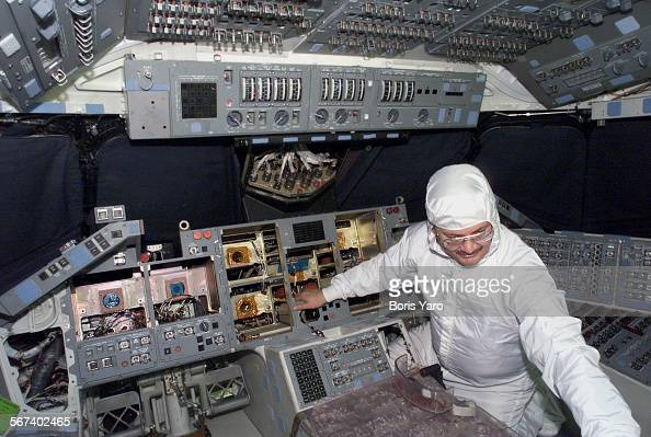 Inside the cockpit of the space shuttle 'Columbia' is ...