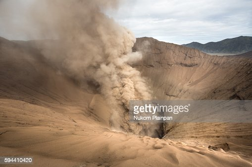 Inside the crater of Mt. Bromo, East Java, Indonesia