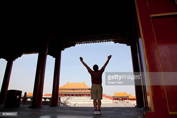 Inside the forbidden city palace
