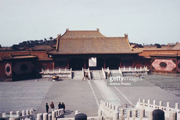 Inside the Forbidden City the former Chinese imperial palace in Beijing China circa 1965