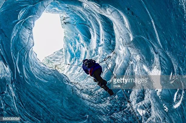 内側、氷河