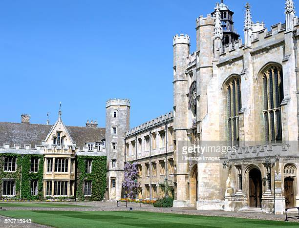 Inside the Great Court Trinity College Cambridge Cambridgeshire The largest of Cambridge University's colleges Trinity was founded by Henry VIII in...