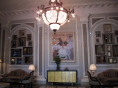 Inside the Hotel Maria Cristina in San Sebastian a luxury hotel furnished in belle epoque style which since 1921 has housed historic characters and...