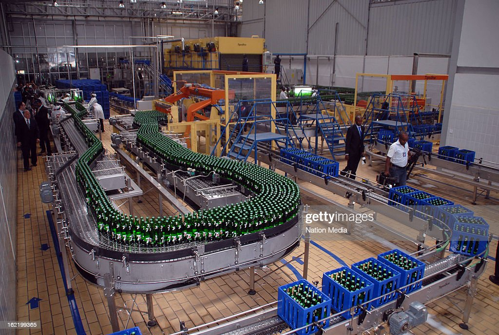 Inside the new Pepsi Cola manufacturing plant on February 18, 2013 in Nairobi, Kenya. Seven-Up Bottling Company Kenya's Chairman Faysal El-Khalil said the new manufacturing plant has been established to improve Kenya's market growth. The plant is equipped with advanced technologies to promote operating efficiencies while reducing water and energy use.